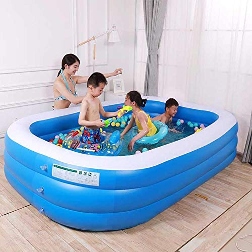 Sable Inflatable Pool, Swimming Pool for Baby, Kiddie, Kids, Adult, Infant, Toddler, 1.2m/1.5m/1.8m/2.1m length, for Ages 3+