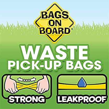 Bags on Board Strong, Leak Proof Dog Poop Pick-up Bags - Ocean Breeze scent (140 Bags) 7