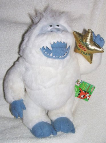 Rudolph 1999 Island of Misfit Toys 14' Large Plush Bumble The Abonminable Snow Monster Doll Holding Gold Star from CVS Stuffins