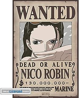 1art1 One Piece - Wanted Nico Robin Póster Mini (52 x 35cm)