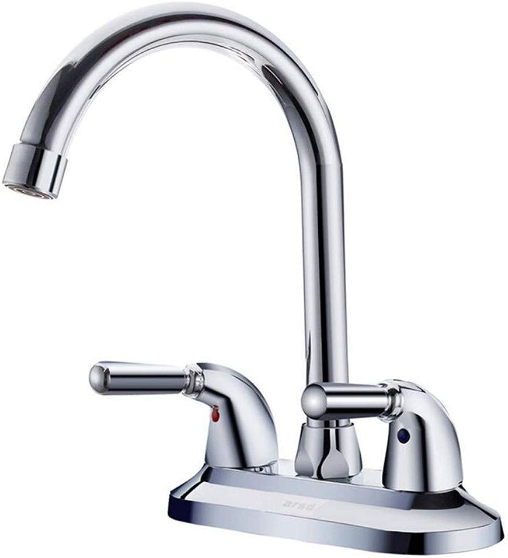 Bathroom Faucet Copper Hot and Cold Kitchen Sink Taps Kitchen Faucet Basin Faucet Double Handle Double