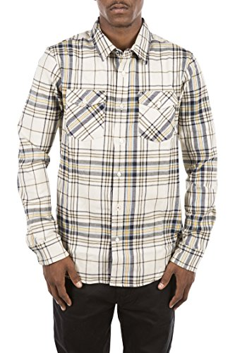 Element Men's Hawkins Flannel Shirt, Concrete Grey, Small