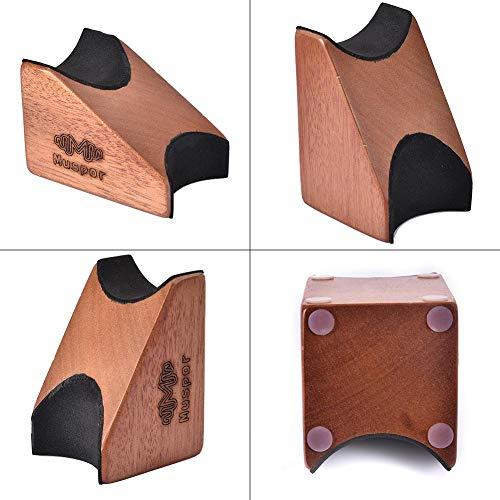 juman634 Guitarra Soporte para el reposacabezas Almohada Caoba con Fieltro Guitarra acústica eléctrica Bajo Luthier Herramienta de configuración para Guitarra Bajo Banjo Ukelele