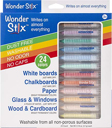 Wonder Stix TPG-636 Pastel Colors Dustless Chalk Crayon 24 pack
