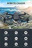 XKJ 2020 New Mini Drone 4K 1080P HD Camera WiFi FPV Air Pressure Altitude Hold Black and Gray Foldable Quadcopter RC Drone Toy (4K Camera)
