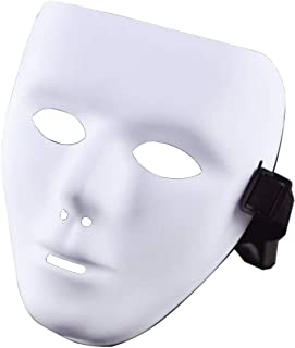White Blank Male Mask for Halloween Cosplay Costume