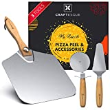 CRAFTESQUE Aluminum Pizza Peel 12 inch & Pizza Accessories | Pizza Paddle, Pizza Spatula paddle, Pizza Shovel, Metal Pizza Peel, 12 inch Pizza Peel | Pizza Tools, Pizza Oven Accessories, Pizza Kit