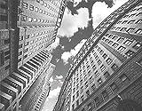 PANILUR Kits de pintura de diamantes 5D para adultos y niños, estampado de cielo blanco y negro en Manhattan, imágenes de bordado de diamantes de diamantes de imitación de cristal, manualidades para