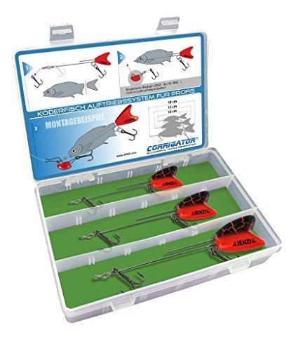 Jenzi Specialbete fisksystem sorterat i en låda 10,14 och 18 cm