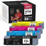 LEMERO Cartucho de impresora 913A compatible con HP 913A para HP PageWide MFP 377dw 477dw 477dn 552dw Pro 377dn 352dn 452dw 452dn gestionado P55250dw P57750dw (B/C/M/Y)