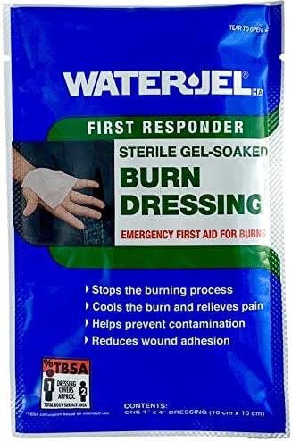 """WATER-JEL - Burn Dressing - 4"""" x 4"""""""