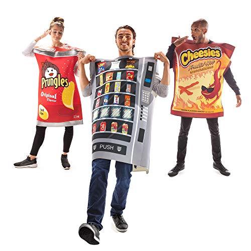 Snack Attack Group Halloween Costume - Vending Machine, Prungles, Hot Cheesies