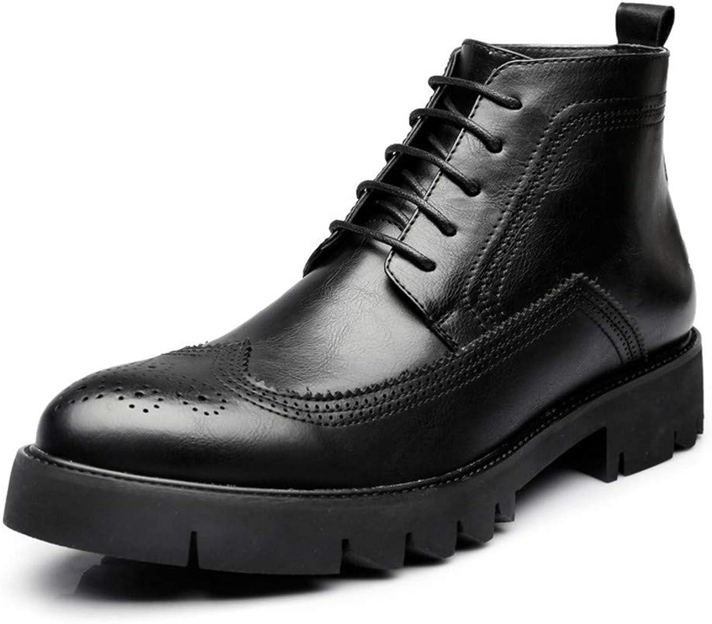 Men's Boots Martin Boots, Round Head Men's shoes, Chelsea Boots.