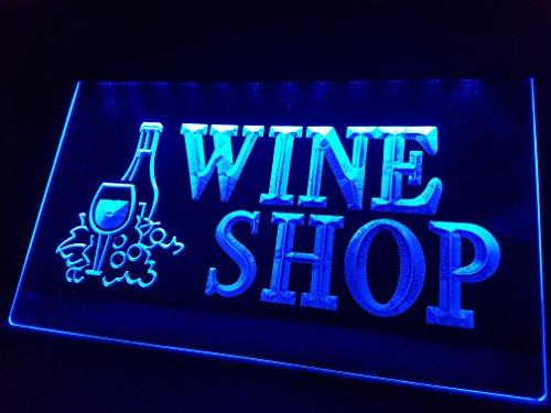 Wine / Wino Wein Shop Leuchtschild LED Neu Schild Laden Reklame Neon Neonschild BAR PUB Kneipe Disco