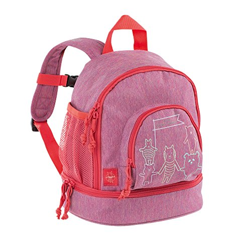 LÄSSIG Kinderrucksack Kindergartentasche mit Brustgurt/Mini Backpack About Friends pink mélange