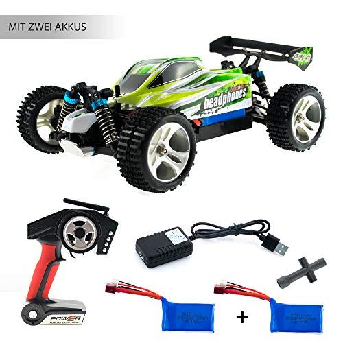 efaso WL Toys A959-B Zusatzakku - schneller RC Buggy 70 km/h schnell, wendig, voll digital proportional - 2.4 GHz RC Auto mit Allradantrieb - Maßstab 1:18, hoher Fun Faktor*