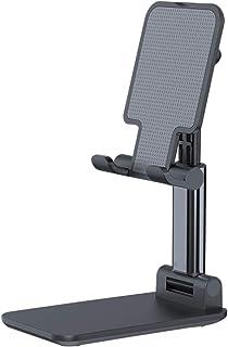 Suporte de celular ajustável UKCOCO para celular e mesa dobrável portátil compatível com iPad/Smartphone/Kindle/Tablet – Azul