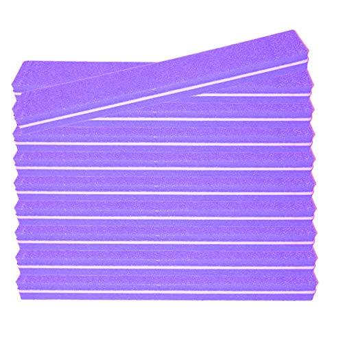 10 pièce Tampon Lime À Ongles Violet Largeur Droite - Fichier Tampon Pour Salon De Ongles - 100/180 Grit - Tampon Professionnel
