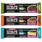 enervit Gymline High Protein Bar Variety Pack ● 15 Barrette da 60g al 50% Proteine ● Gusti Brownie + Arancia-Cioccolato + Mandorla