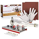 Glass Bottle Cutter Bundle | Fully Adjustable Bottle Cutting Tool for Wine, Beer, Whiskey, Champagne, Water Or Soda Bottles | DIY Cutting Machine for Fun Garden Projects, Lamps, Vases & More