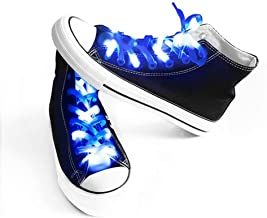 blue light up shoelaces