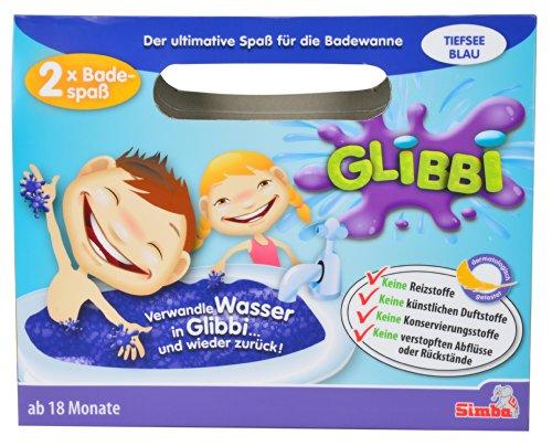 Simba 105955362 Glibbi Badewannenspielzeug Pulver Wird Glibber, Gelmasse, erhältlich in 4 Farben, es Wird nur EIN Artikel geliefert, ab 3 Jahren