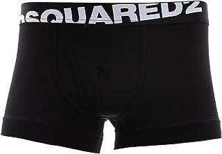 DSQUARED2 2-Pack Logo Inclinato Low-Rise Boxer Maschile Tronchi, Nero