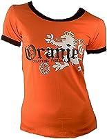 TICILA Dames T-Shirt Miss Oranje Holland Nederlands Nederland Netherlands Champion Voetbal WK EK Designer Fan Tee Jersey...