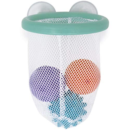 Janod Juego de baloncesto «Tacti' Basket» - Con lanzachorros - Juguete de baño para niños pequeños - A partir de 1año