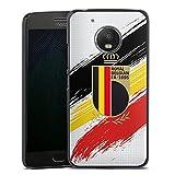 Coque Compatible avec Motorola Moto G5 Étui Housse Drapeau Diables Rouges RBFA