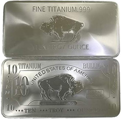 Metal Art Collection - 10 oz Ten Troy Ounce USA American Buffalo