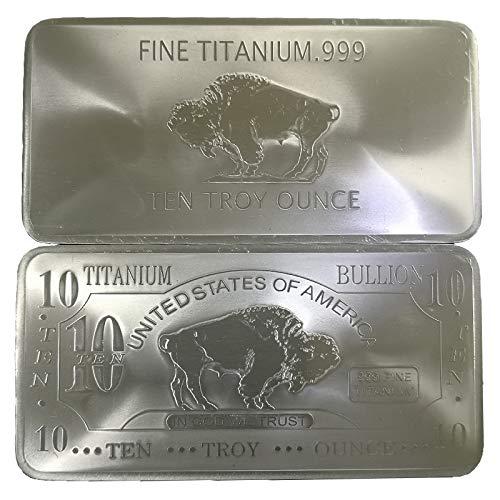 10 Oz 10 Unzen USA Amerikanischer Büffel .999 Rein Titanbarren Ti Titanium Titan Barren (Translated from English)