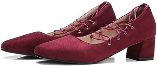 VIVIOO Femme Chaussures Talons Hauts Femme Pompes Printemps Pointe Carrée Cheville Sangle Chaussures Simples Femme Talons épais Grande Taille