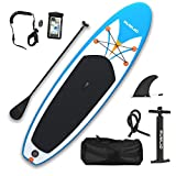 Rumlad Inflatable Stand Up Paddle Board 4 Inches Thick with One-Way Sup Dedicated Pump&Backpack,Adjustable Special Pulp,Simple Foot Rope,Waterproof Cell Phone Bag,Youth & Adult