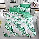 Phosphor Bettbezug, 3-teiliges Set, Doppelbett, Mikrofaser, Bettbezug (Bettlaken und Kissenbezug)