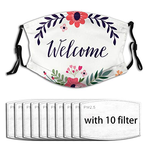 Osvbs We Are With 10 Filter Replaceable Filter 5-Layers Activated Carbon For Face Cover Dust Mask