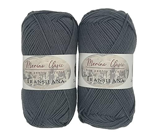 Ovillos de lana merino 100% para tejer y ganchillo, 200 g (2...