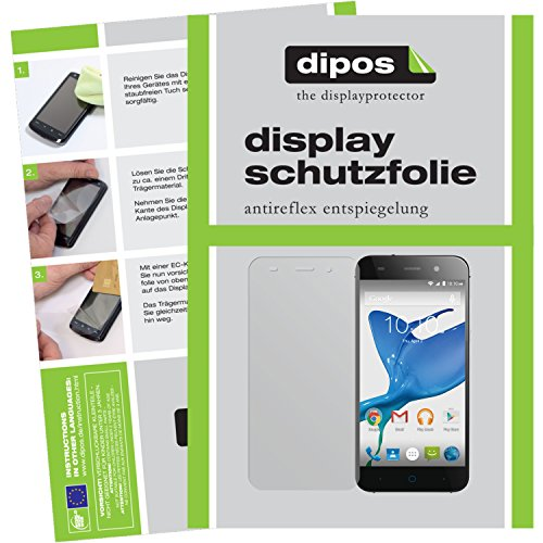 dipos I 6X Schutzfolie matt kompatibel mit ZTE Blade V6 Folie Bildschirmschutzfolie