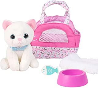 Adora Amazing Pets Luna the White Kitty – 18 Doll Accessory includes 4.5 Cat, Cat Carrier, Bed, Collar, Wooden Bowl and Fi...