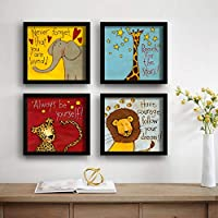 Material: Synthetic, Color: Multicolor Package Contents: 4 Framed Painting Painting Item Size: 1 Painting :- 9.5 x 9.5 Inches 4 Framed Painting painting Usage: It can be used for living room, home decor and for gifting purposes