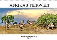 AFRIKAS TIERWELT パノラマ印象派 (Wandkalender 2022 DIN A3 quer)