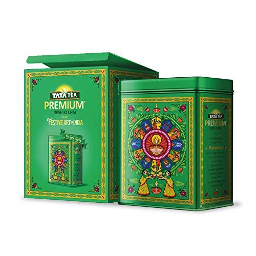 TATA Tea Premium Pattachitra 250gm Festive Tin Pack