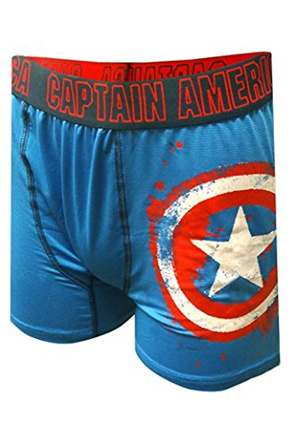 Marvel Comics Captain America Storm Shield Boxer Brief for men (Small)