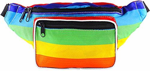 SoJourner Bags riñonera uno tamaño Arcoiris (Multicolor)