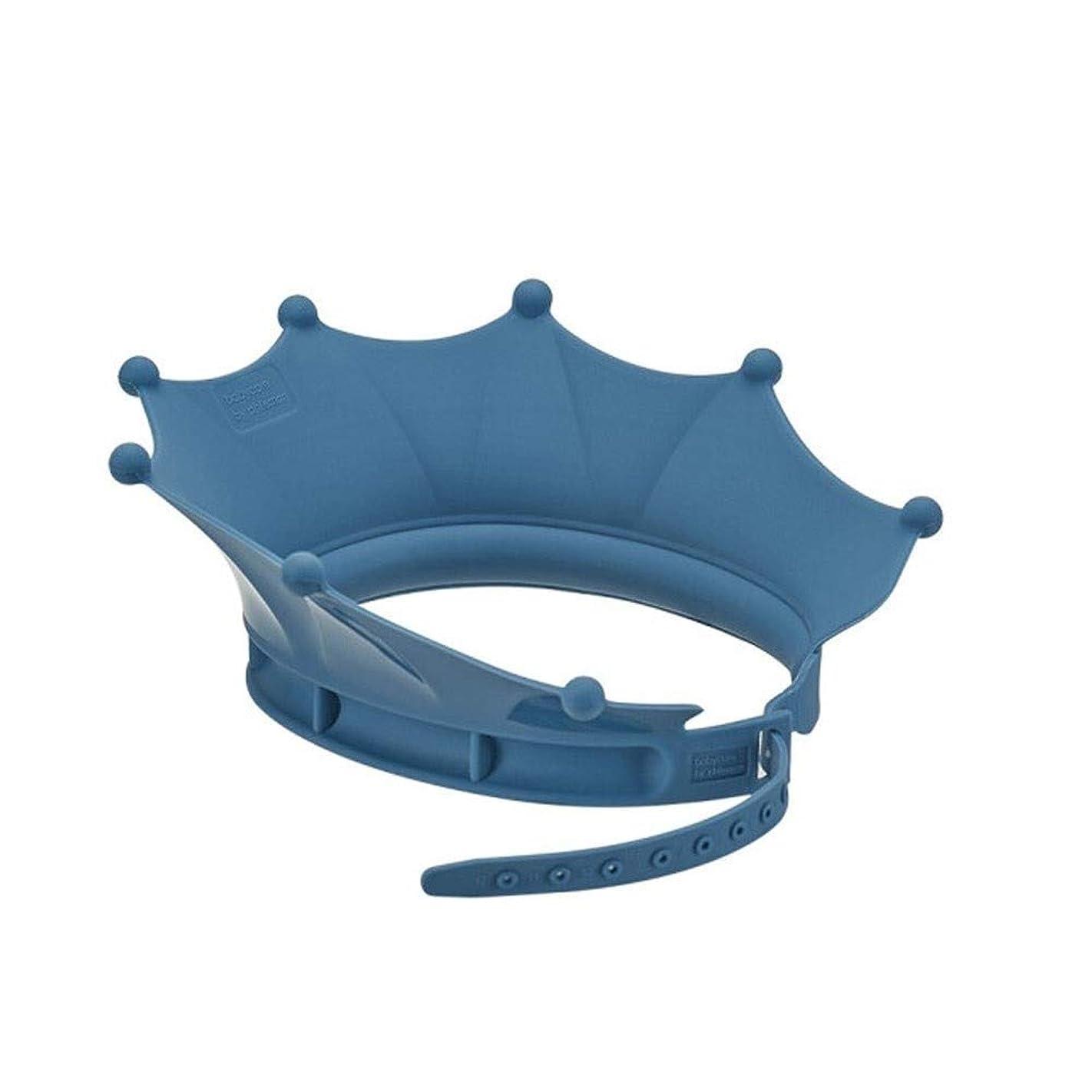 険しい弾力性のある所得XFHA キャップ、調節可能なシリコーンシャワーキャップ、シャンプー耳の保護シャワーキャップ、防水シャワーキャップ、ブルーシャワー シンプルで実用的な製品 (Color : Blue)