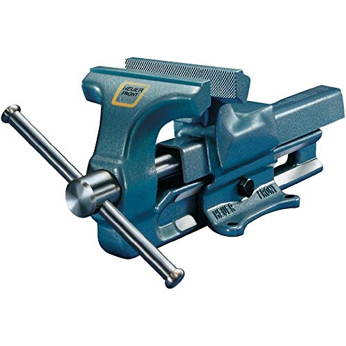 Heuer Schraubstock (ganz aus Stahl geschmiedet, unzerbrechlich, Backenbreite: 140 mm, Spannweite: 140 mm) 100140