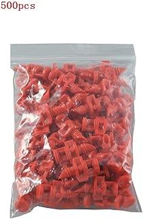 Amazing-us 500 Count 360 Degree Micro Sprayer Fan Jet Hydroponic Aeroponic Misters Cloners - 360 Sprayer Red (500)
