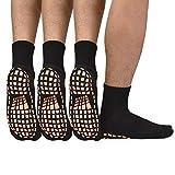 Men Non Slip Sticky Grips Socks - ELUTONG 3 Pairs Tile Wood...