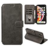 iphone xr ケース 手帳型 iphone xr ケース 手帳 カード収納 スタンド機能 アイフォンxrケース 手帳型 高級PUレザーケース マグネットアイフォン XR 財布型 スマホケース(iphone Xr 6.1 inch対応) K2 ブラック
