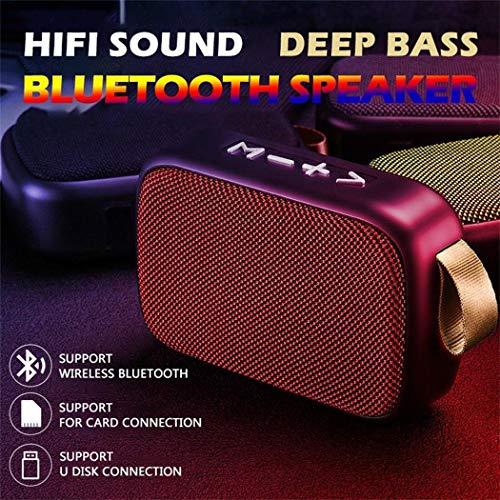 Fandazzie Altavoz Bluetooth inalámbrico Subwoofer Reproductor de MP3 estéreo Soporte Tarjeta TF Radio FM Altavoces portátiles